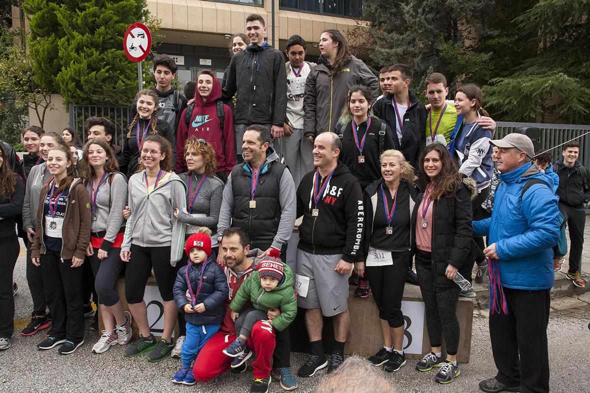 Beau succès pour la grande course du lycée franco-hellénique qui s'est déroulée le 12 mars-20