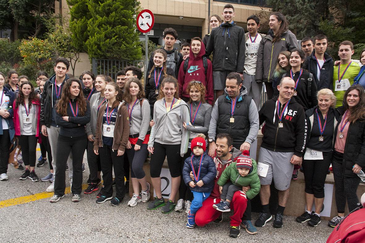 Beau succès pour la grande course du lycée franco-hellénique qui s'est déroulée le 12 mars-21