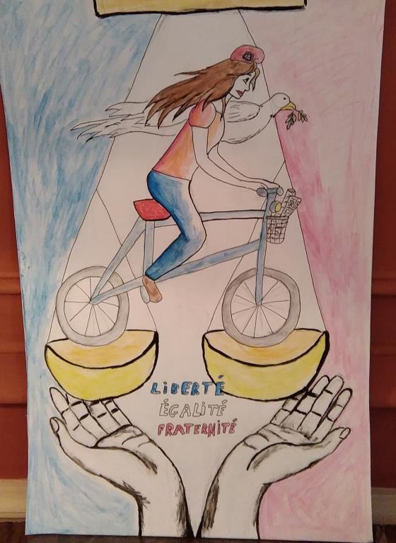 LIBERTE - EGALITE - FRATERNITE : Bravo à tous nos élèves pour ces très beaux dessins!