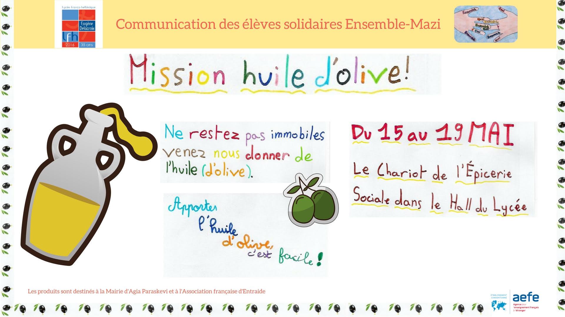 Epicerie Sociale : Mission huile d'olive !-1