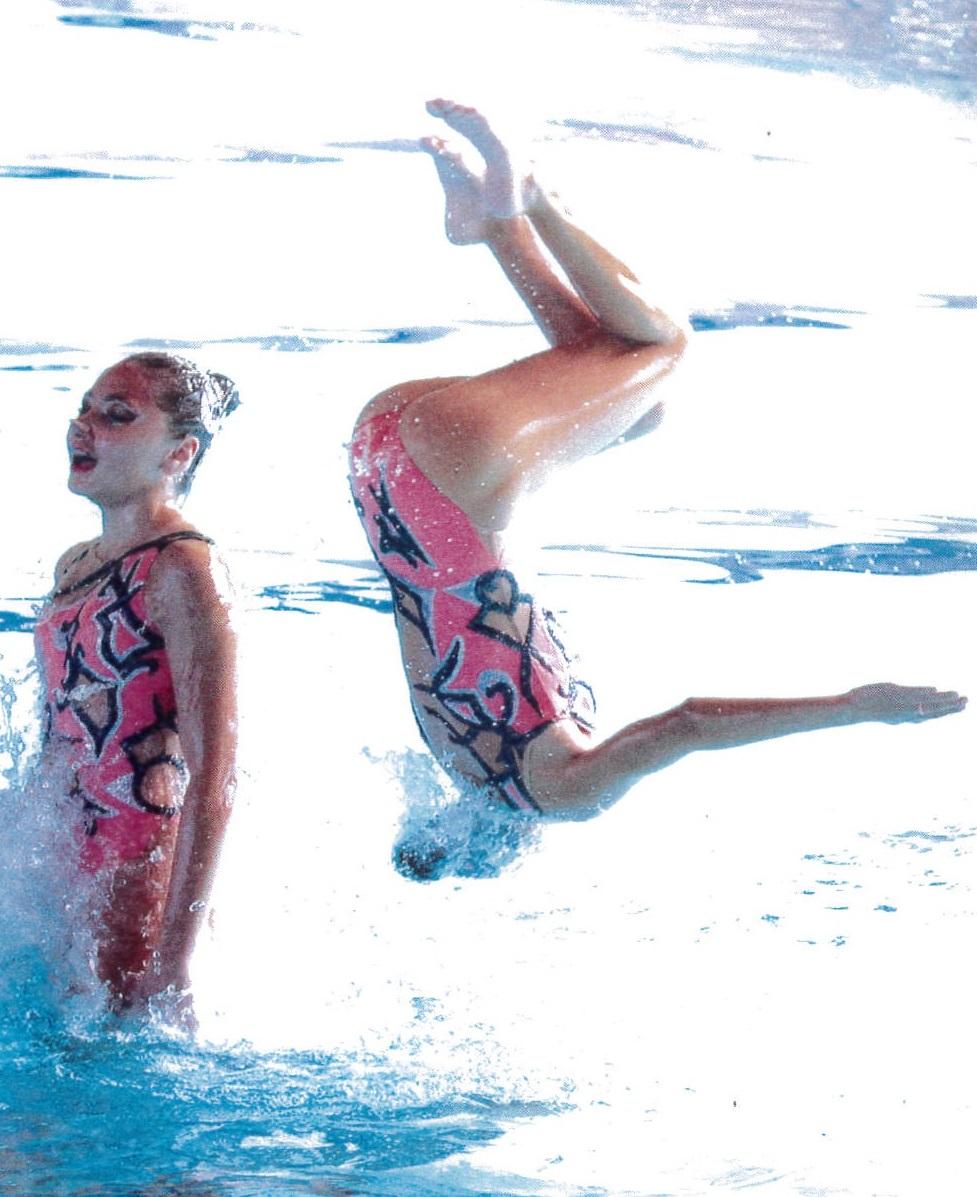 Mathilde-Johanna, sportive de haut niveau en Natation Synchronisée