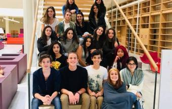 La classe Goncourt accueillie à la Bibliothèque Nationale de Grèce, au centre culturel Fondation Stavros Niarchos-10