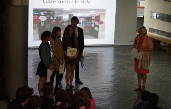 Une journée Action sida organisée par 3 élèves au LFHED -0