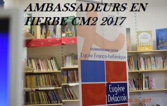 Ambassadeurs en herbe : un projet plurilingue pour s'exprimer , donner son avis et convaincre.-0