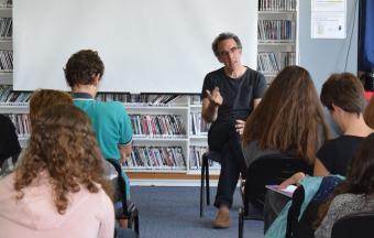 """Intervention au LFHED de Sylvain l'Espérance à propos de son film """"Combat au bout de la nuit""""-1"""