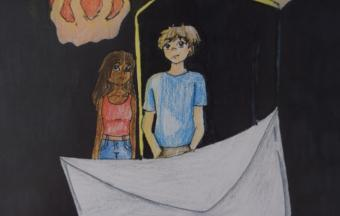 Οι μαθητές της Β' Γυμνασίου συναντούν τον « Άνθρωπο Φωτιά»-5