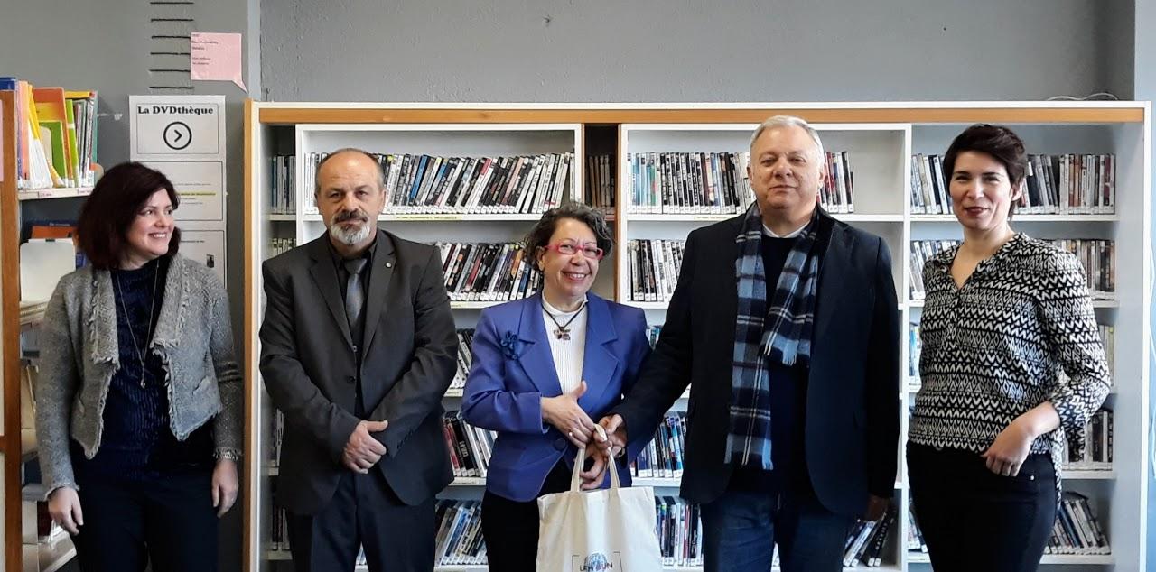 L'écrivain Bougelekas rencontre nos élèves hellénophones de 2nde-1