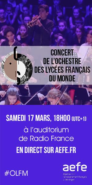 Suivez en direct le concert donné par l'Orchestre des lycées français du monde dans le grand auditorium de Radio France