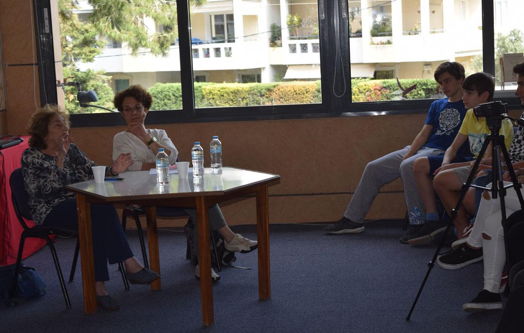 Promenade littéraire autour de l'oeuvre de l'écrivain Alki Zei et rencontre de nos élèves avec l'auteur-3