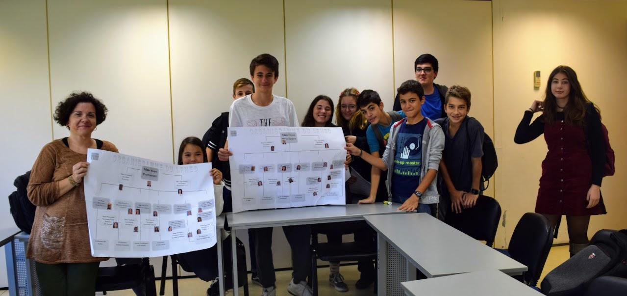 Nos élèves délégués du collège en formation à l'IFG-15