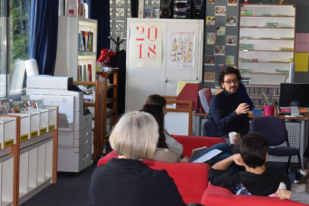 Les élèves de 1ère L partagent un moment privilégié avec l'écrivain David Foenkinos -0