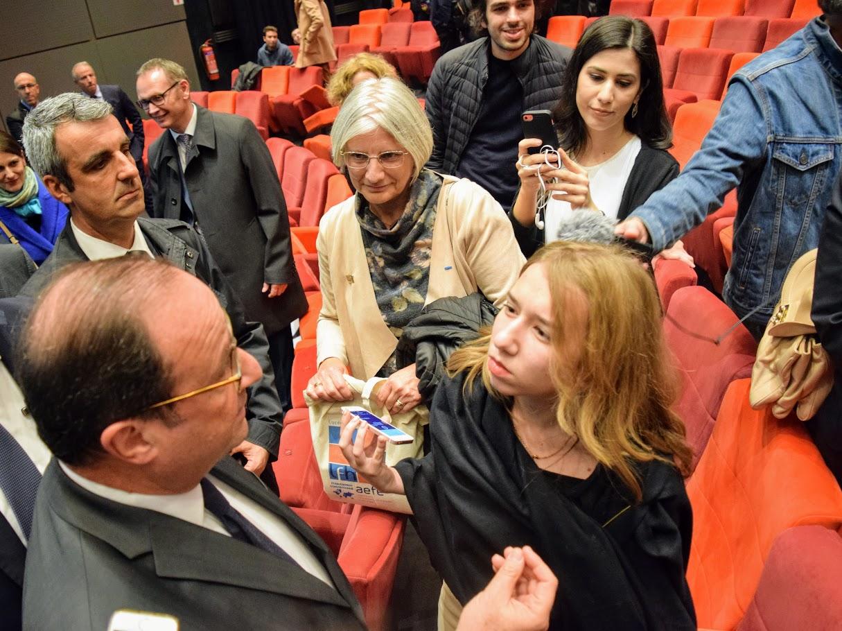 Intervention de François Hollande sur l'Europe à l'IFG : les Terminales posent leurs questions-9