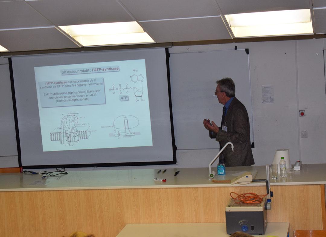 Conférences de M. Jean-Pierre SAUVAGE, prix Nobel de chimie 2016, au LFHED-4