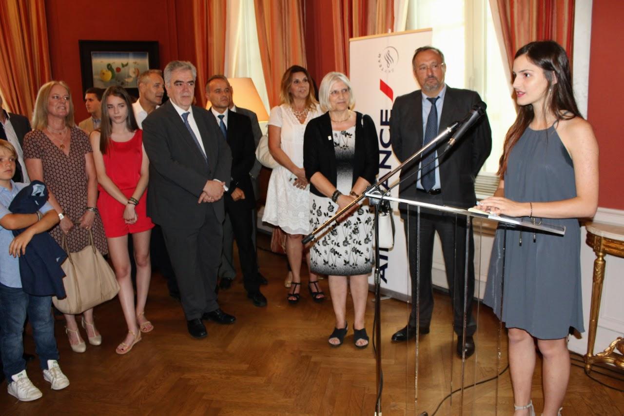 Nos élèves de Terminale des sections française et grecque félicités par M. L'Ambassadeur de France en Grèce-5