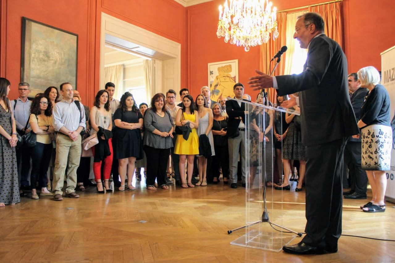 Nos élèves de Terminale des sections française et grecque félicités par M. L'Ambassadeur de France en Grèce-0