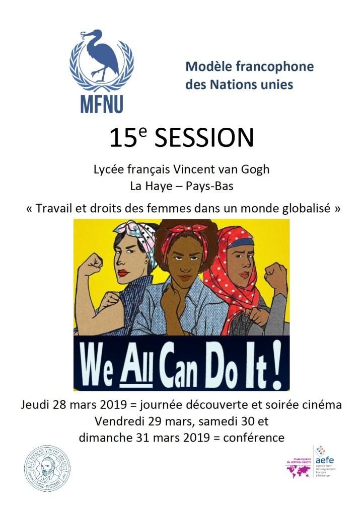 Appel à candidatures auprès des lycéens pour la 15e session du Modèle Français des Nations Unies