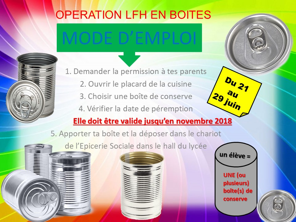 """Opération """"LFH en boîtes""""-1"""