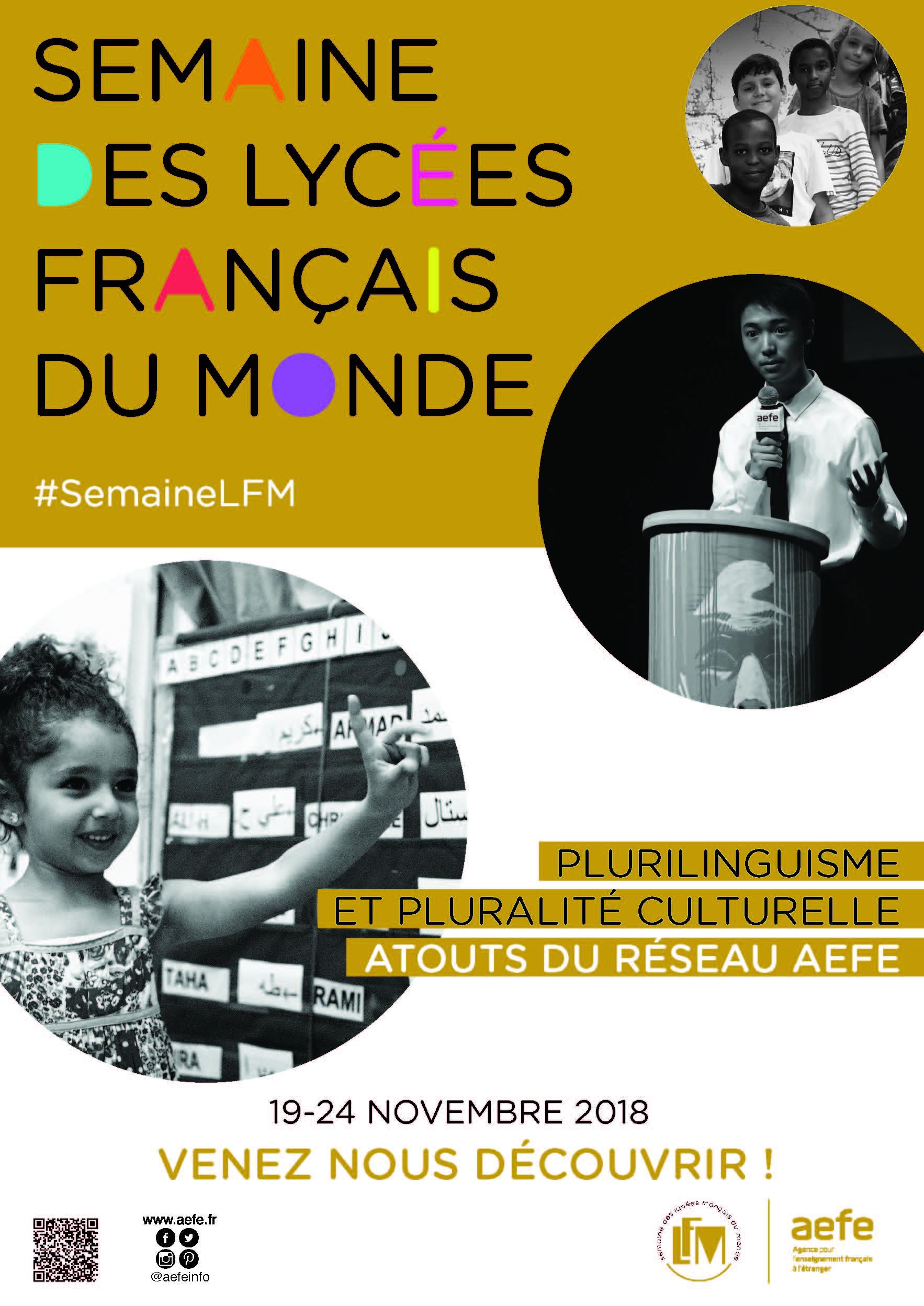 Tenez vous prêts pour la Semaine des lycées français du monde !