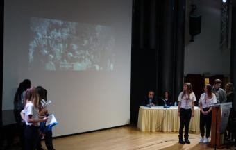 Nos élèves au colloque « En voyageant avec Kazantzakis »-10