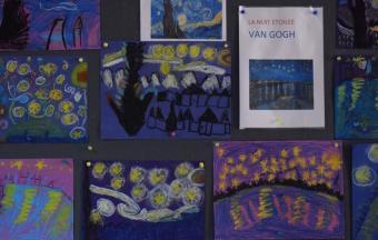 Les classes de CP du LFHED à l'étude du peintre Van Gogh-3