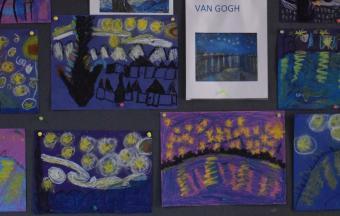 Les classes de CP du LFHED à l'étude du peintre Van Gogh-4