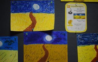 Les classes de CP du LFHED à l'étude du peintre Van Gogh-1