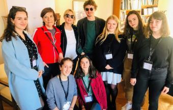 Nos élèves de 1ère des sections française et hellénique couvrent la XXe édition du Festival du Film Francophone-5