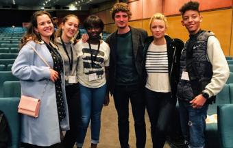 Nos élèves de 1ère des sections française et hellénique couvrent la XXe édition du Festival du Film Francophone-22