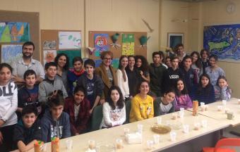 Les élèves de Α1' Gymnase au Centre de jour ΑΝΟΙΧΤΗ ΑΓΚΑΛΙΑ-0